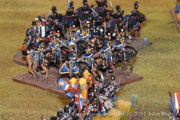 Late in Turn 9 - The 13th Light Dragoons and 2nd Brunswick Hussars