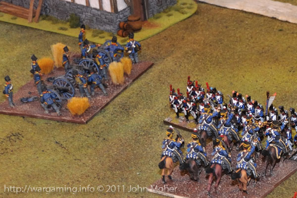 Early Turn 13 - The 13th Light Dragoons charge the II/3e Ligne