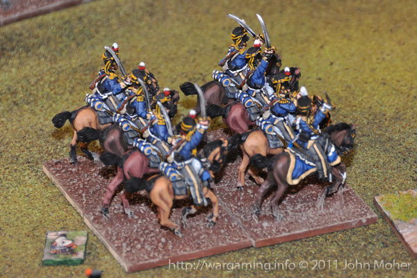 Turn 13 - The 13th Light Dragoons flow round the II/3e Ligne square