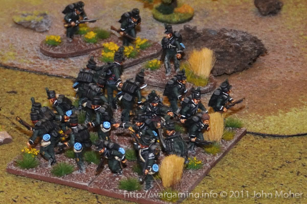 Early Turn 15 - The stout 1/95th Rifles square has seen off the Carabiniers