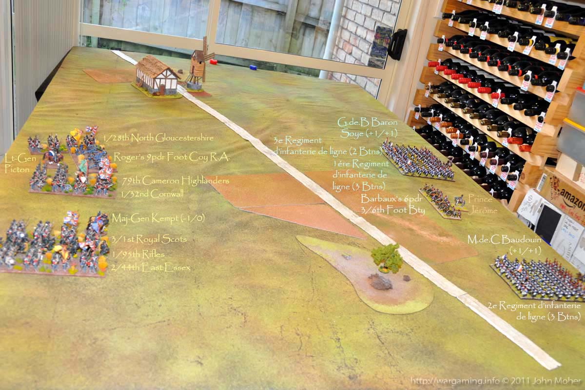 The Initial Deployment - the objective marker is just out of picture to the left of MG Kempt's position.