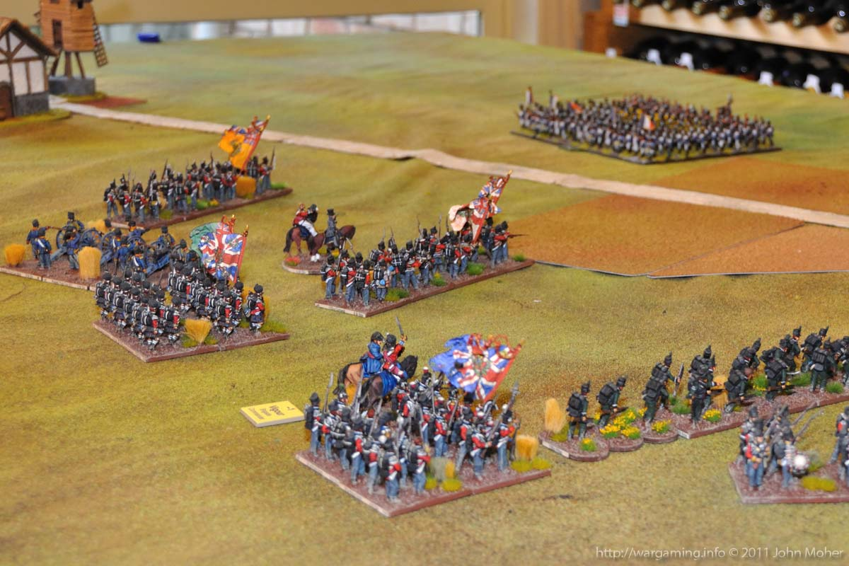 Start of Turn 3 - The British left and centre.