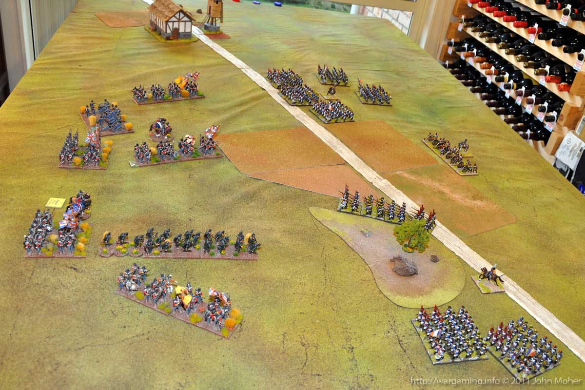 End of Turn 3 - the French deploy for the assault, as the III/2e Ligne infiltrate the centre.