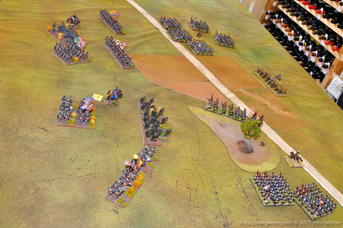 End of Turn 4 - the British line forms, but there has been a spot of confusion by the 95th in the middle!