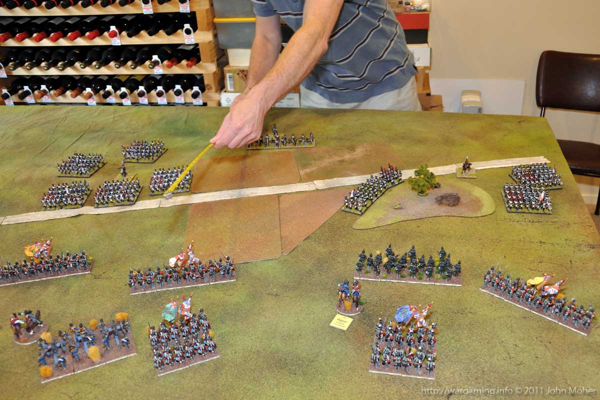 Start of Turn 5 - Barbaux's 6pdrs about to fire! And the hole in the British line clearly visible.