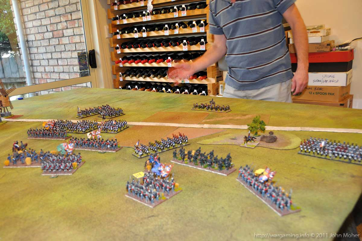 End of Turn 5 - the French advance continues across the whole front.