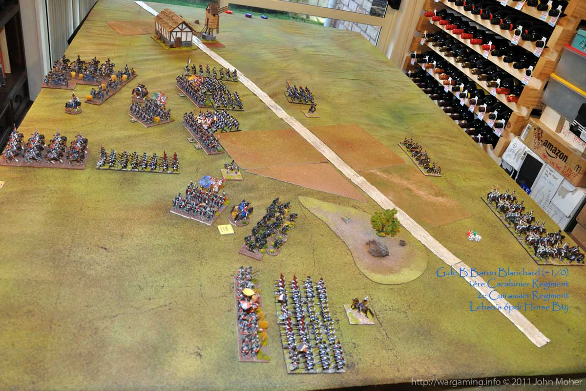 End of Turn 7 - With the peculiar French reserve deployment (its the only way they can fit on table in March Column)!