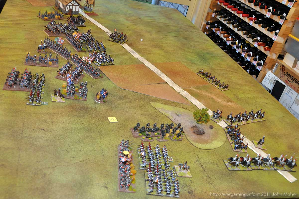 End of Turn 10 - The first British Cavalry Charges occur.