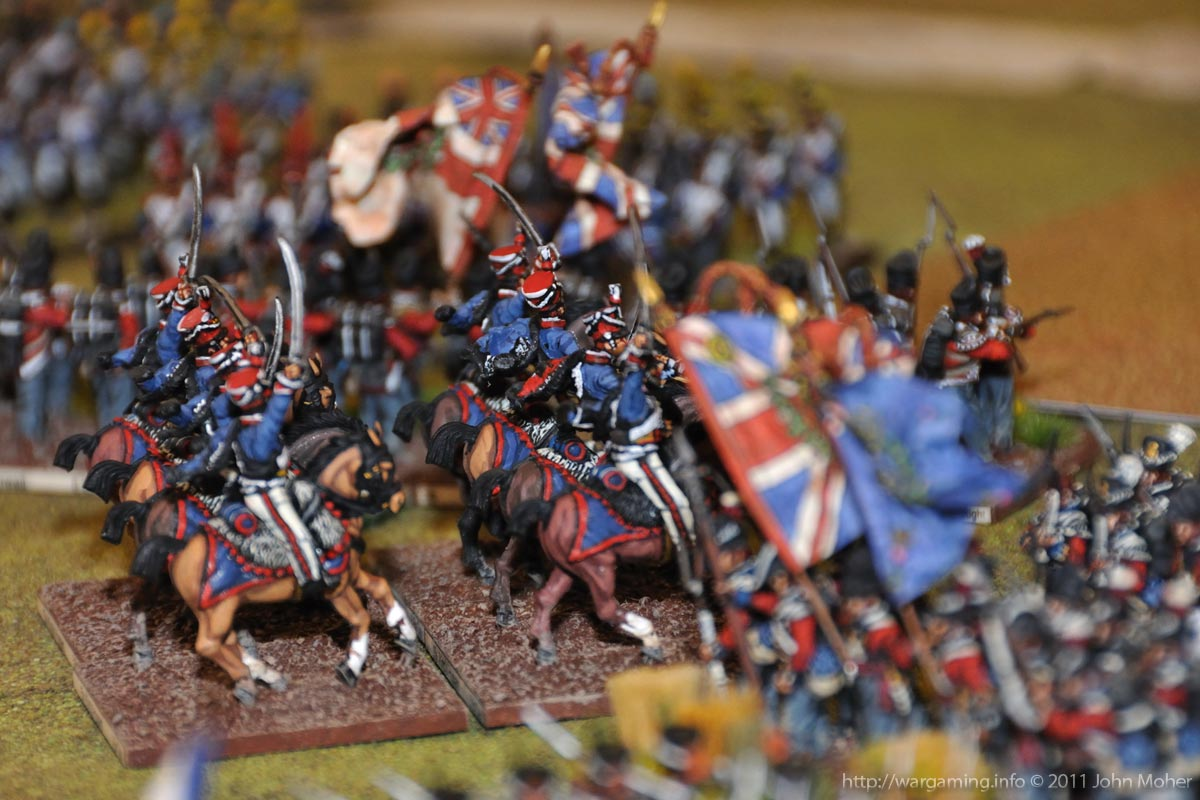 Start of Turn 11 - The Advance of the 15th (King's) Hussars.