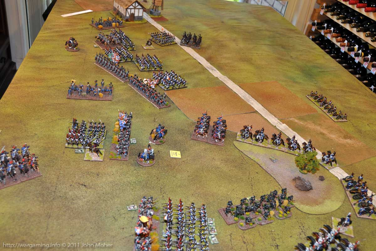 End of Turn 12 - The British pause for breath, apart from the 13th Light Dragoons near the top.