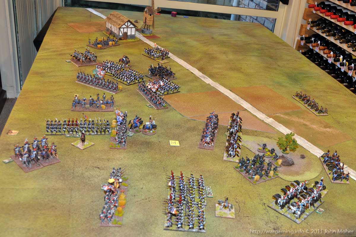 End of Turn 14 - The British fallback, having lost the 1/28th North Gloucestershire's (at the upper-middle left of picture).