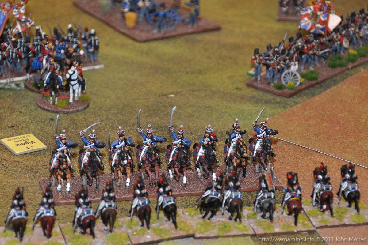 End of Turn 14 - Shortly before the 15th (King's) Hussars gallant rebuff of the 2nd Cuirassiers!