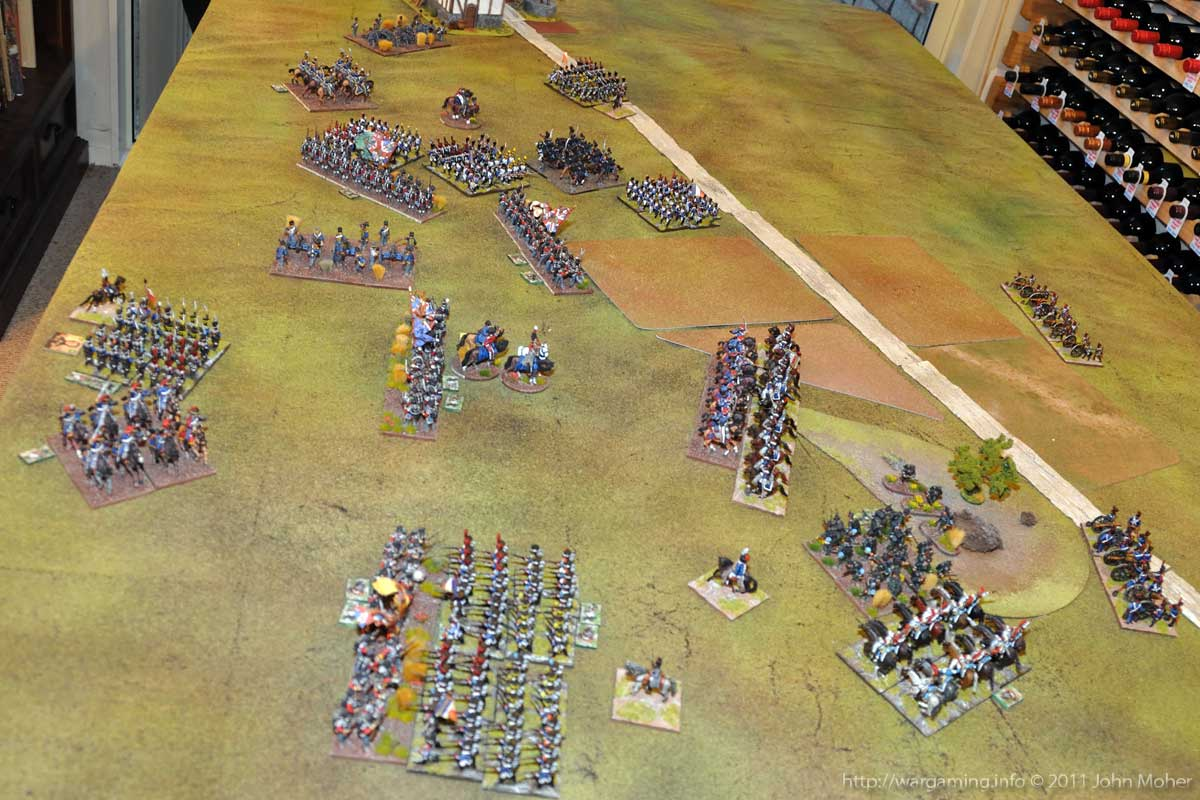 End of Turn 15 - Still more French Assaults all along the line.