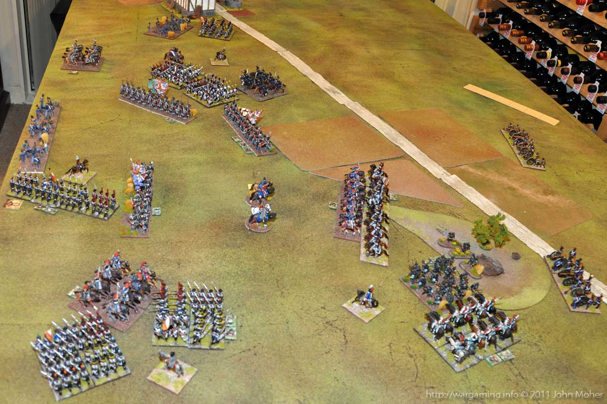 End of Turn 17 - As dusk falls the final French Assaults commence...