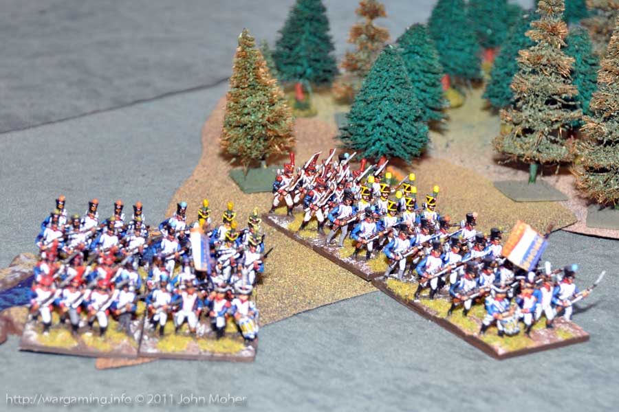 Around Turn 5 the French begin to emerge from the forêt de Tribble.