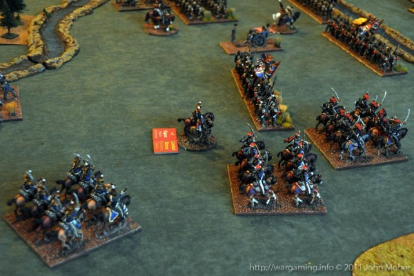 Turn 6 - 5th (British) Cavalry Brigade covering the British right flank.