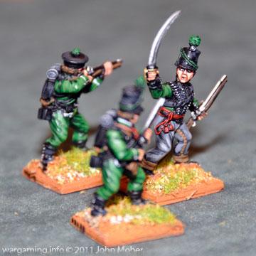 Lieutenant Sharpe calls the advance... supported by Chosen Man Hagman & Rifleman Tongue.