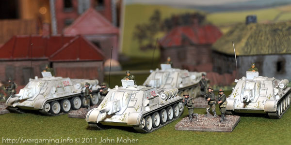 Four Forces of Valor (85041) SU-122 advance with SMG Platoon escort...
