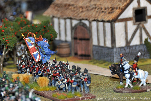 3/1st Foot (The Royal Scots) with General Pack observing