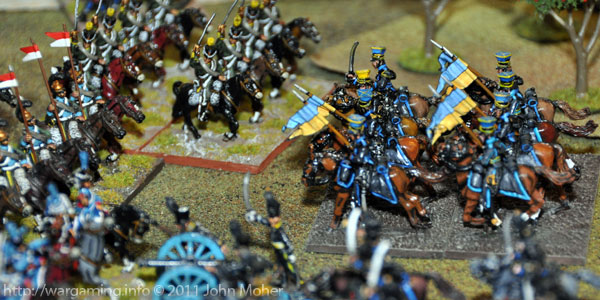 The Brunswick Uhlan Schwadron about to be overwhelmed by French Cavalry