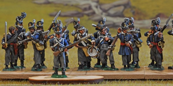 7th Belgian Line Battalion - Right & Centre Companies