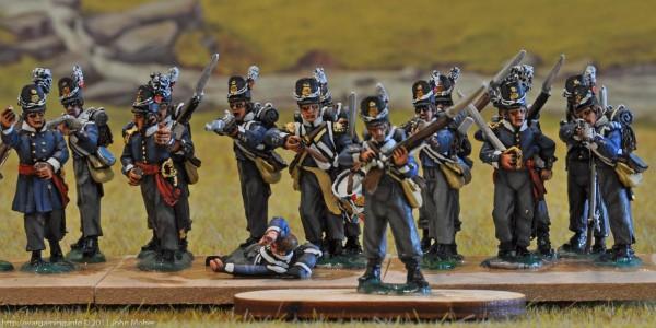 7th Belgian Line Battalion - Centre & Left (Flanquer) Companies
