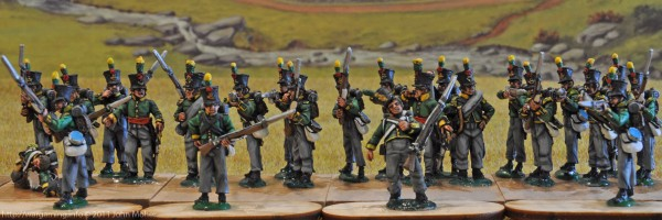 27th Dutch Jäger Battalion - Centre & Left (Flanquer) Companies