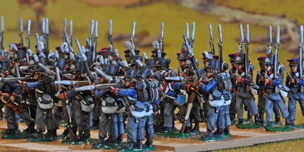 5th, 7th, & 8th Dutch Militia Battalions - looking from the left flank