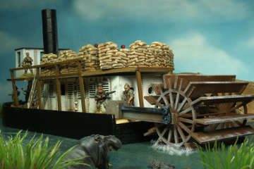 Najewitz 28mm modular River Steamer