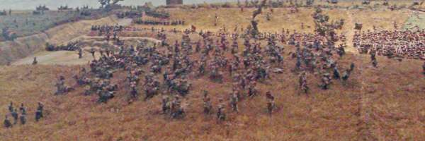 Charge of the Union Brigade - from the Siborne Small Model