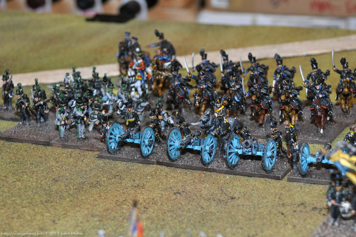 Turn 5 - The Black Hussars retire behind Heinemann's gun line
