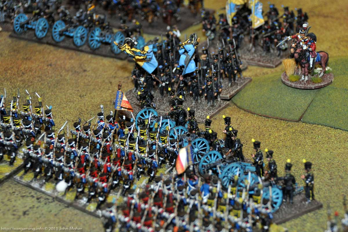 Turn 5 - Moll's Foot Battery get charged by the 1/1er & 2/1er Ligne