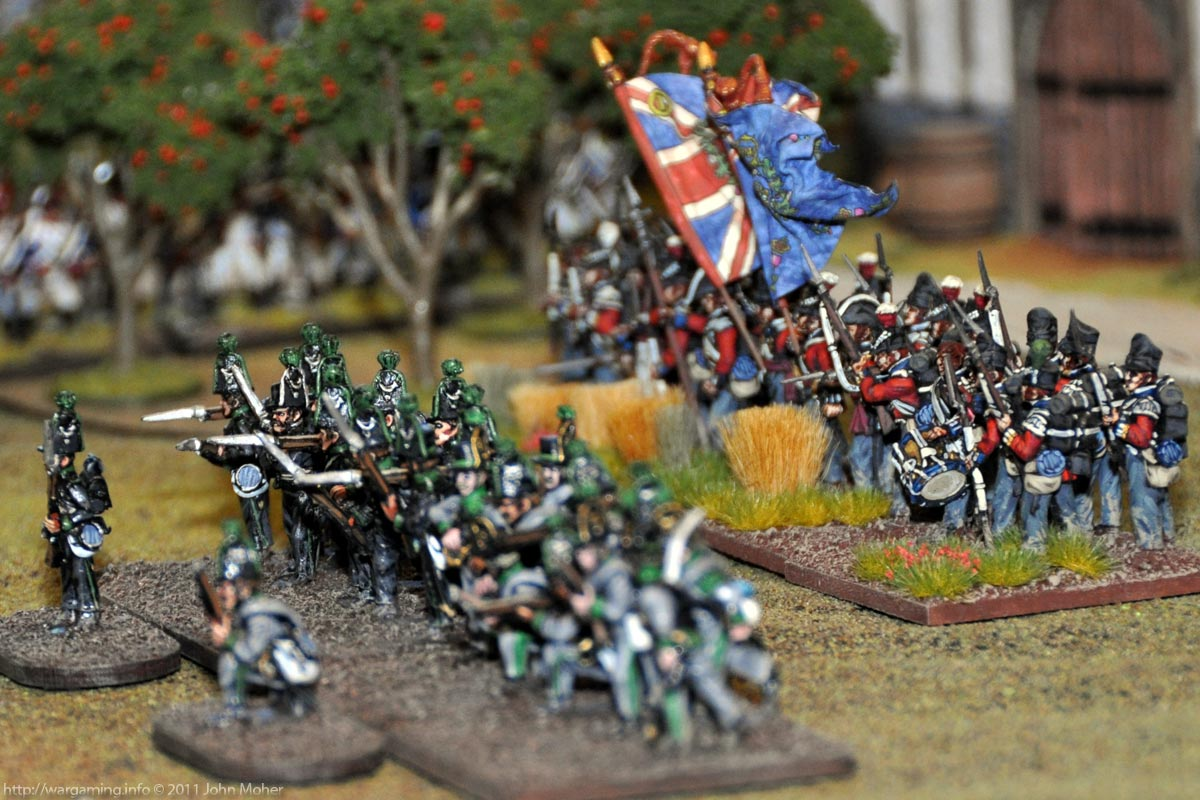Turn 18 - The Avante Garde Bataillon suported by the 3/1st Foot (the Royal Scots)