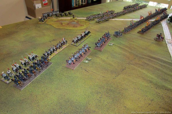 Photo 3 - The first clash, the cavalry face off.