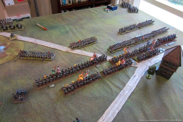 Photo 5 - Initial success for the redcoat infantry...
