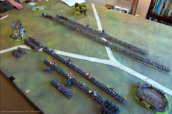 Another view of the deployment from above the British right-rear