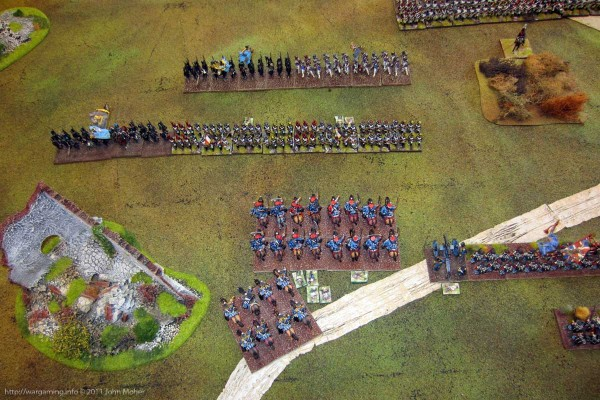 Early in the game - the British Cavalry repelled and under fire!