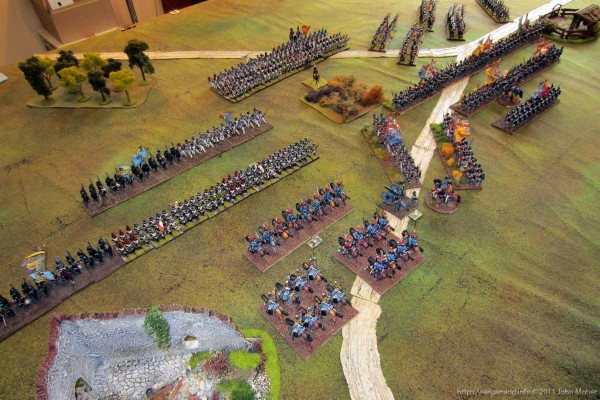 The British Infantry finally advance in response to the French