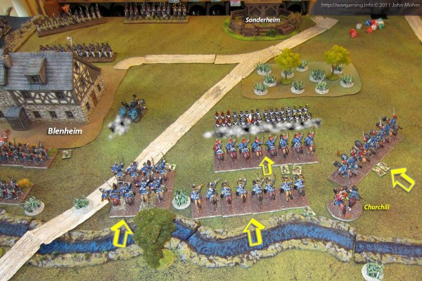 The Allied Cavalry from the Second & Third Lines advances...