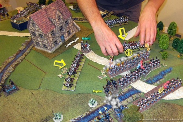 Marshall Tallard attempts to gain the initiative with a further advance in the west