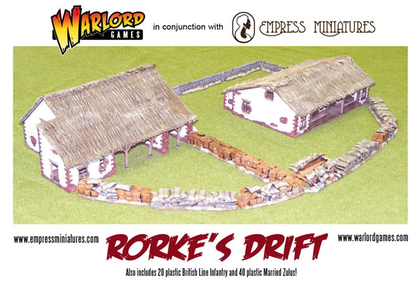 The Warlord Games Rorke's Drift set assembled