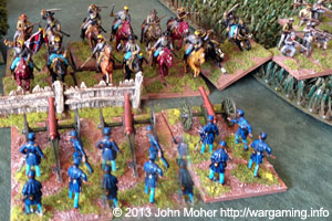 2nd Virginia Cav charge Coy G, 1st US Artillery.
