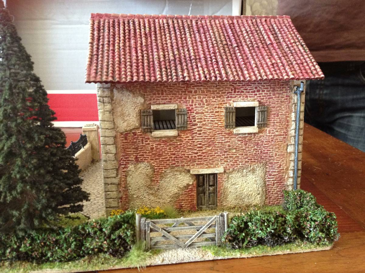 Italeri Country House Back Gate.
