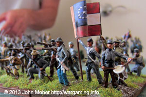 Confederate Regiment Advances.