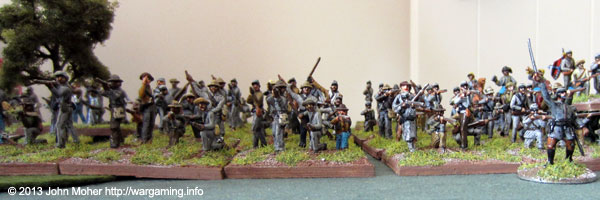 19th Mississippi & 11th Virginian Volunteer Regiments.