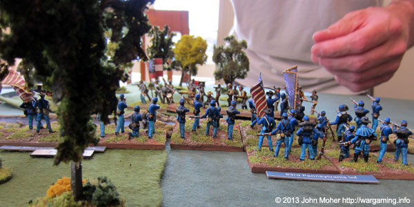 The 1 MA & 63 PA Skirmish With The 10 AL On The Union Left.