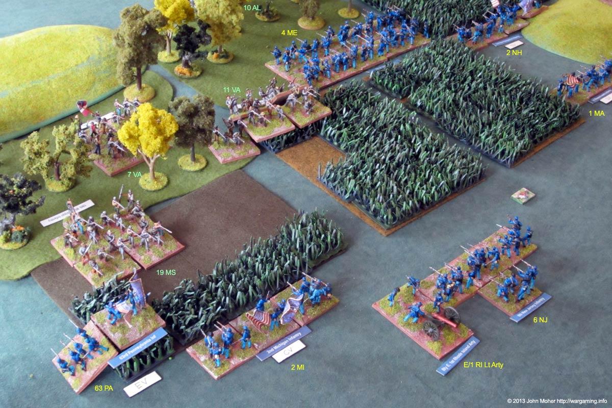 The Confederates Counter Attack In Response.