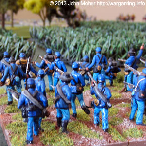 Union Forces Advance Through Cornfields & Woodland.