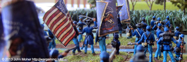 The 63rd Pennsylvania & 20th Indiana Infantry Regiments Advance.
