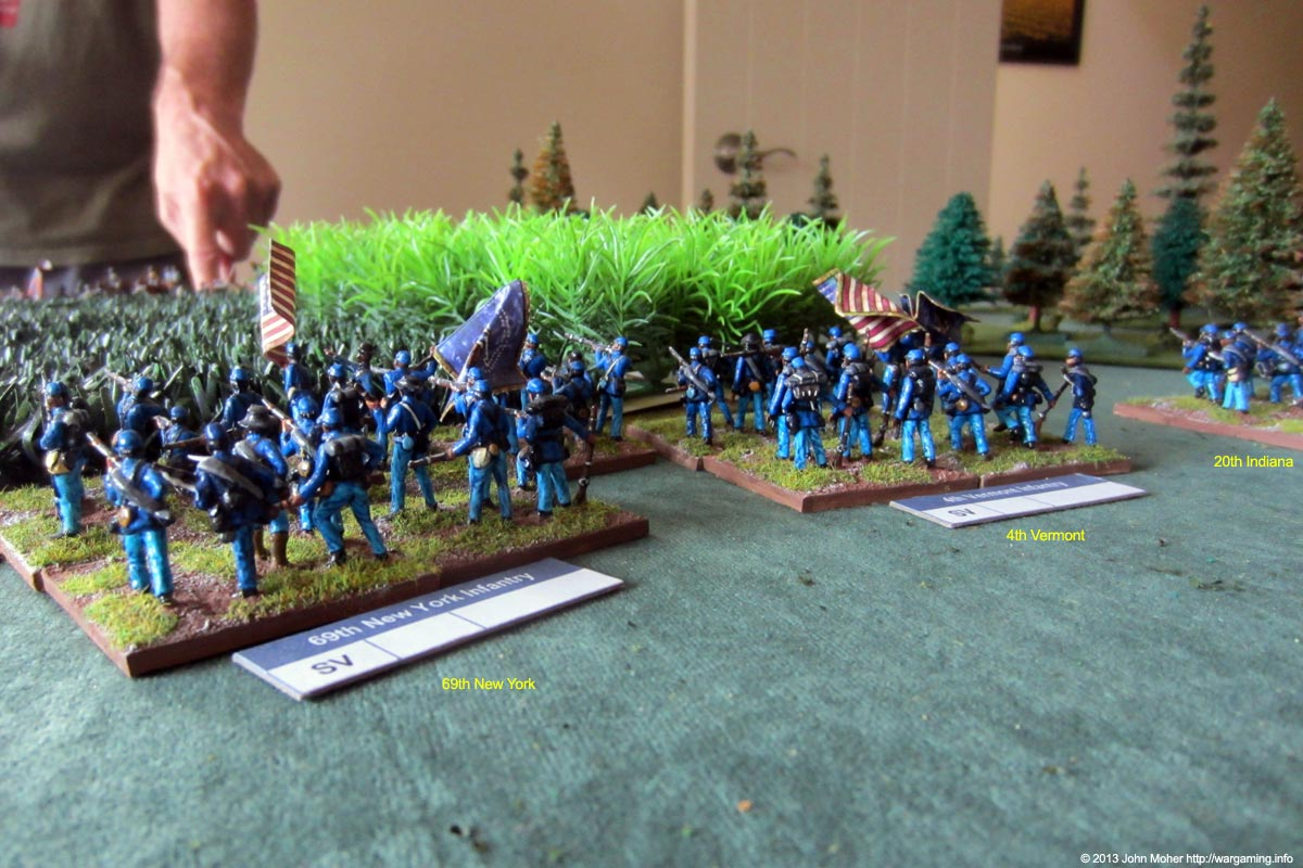 69th New York & 4th Vermont Advance On The Fields.